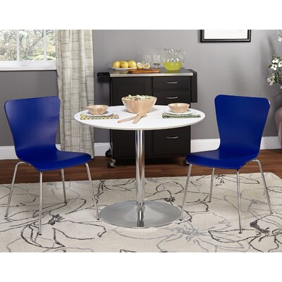 Theotis 3 Piece Dining Set Chair Color: Blue