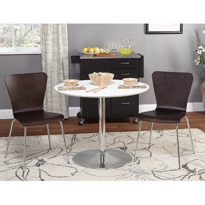 Theotis 3 Piece Dining Set Chair Color: Espresso