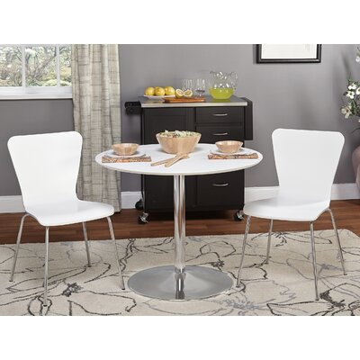 Theotis 3 Piece Dining Set Chair Color: White