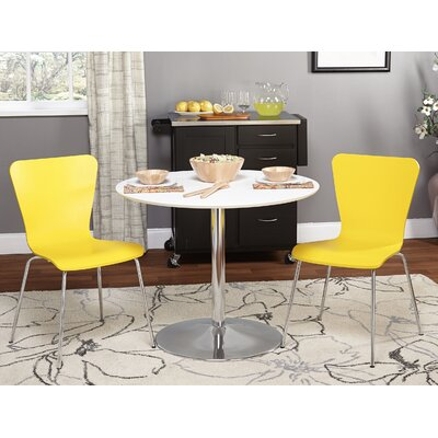 Theotis 3 Piece Dining Set Chair Color: Yellow