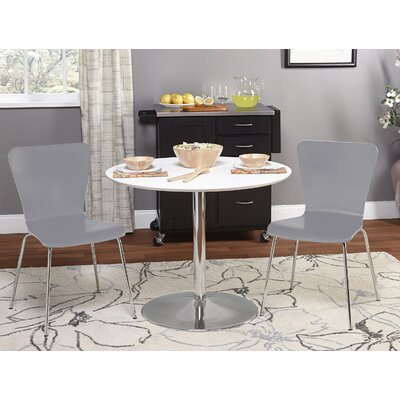 Theotis 3 Piece Dining Set Chair Color: Gray