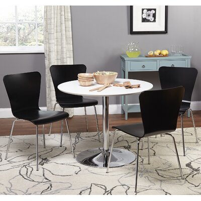 Theotis 5 Piece Dining Set Chair Color: Black
