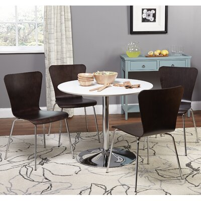 Theotis 5 Piece Dining Set Chair Color: Espresso