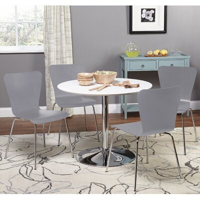 Theotis 5 Piece Dining Set Chair Color: Gray