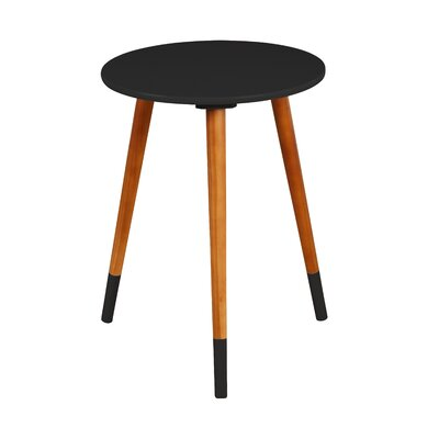 Prichard End Table Color: Black/Walnut
