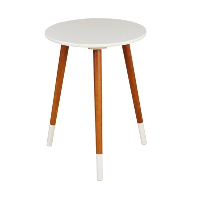 Prichard End Table Color: White/Walnut