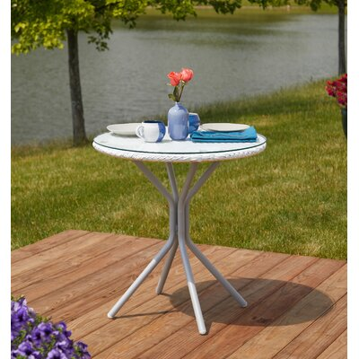 Deslauriers Patio Steel and PE Rattan Bistro Table