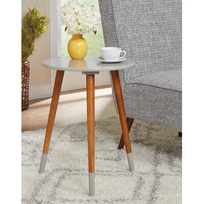Prichard End Table Color: Gray/Walnut