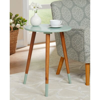 Prichard End Table Color: Mint/Walnut