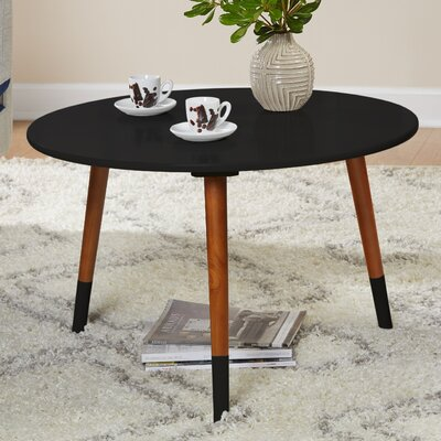 Prichard Coffee Table Finish: Black/Walnut