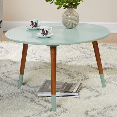 Prichard Coffee Table Finish: Mint/Walnut