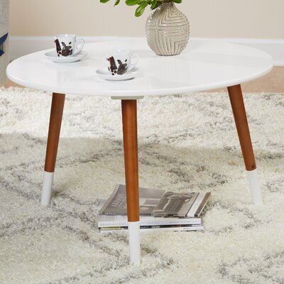 Prichard Coffee Table Color: White/Walnut