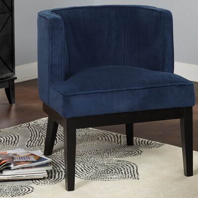 Priebe Accent Barrel Chair Upholstery: Blue