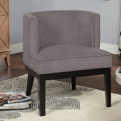 Priebe Accent Barrel Chair Upholstery: Gray