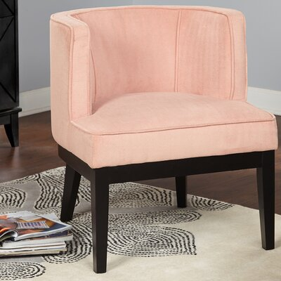 Priebe Accent Barrel Chair Upholstery: Blush
