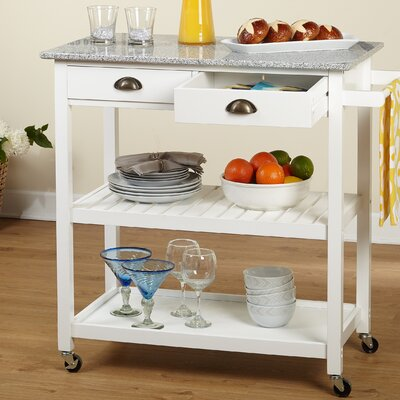 Brundidge Rolling Kitchen Cart Base Finish: White