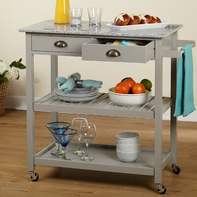 Brundidge Rolling Kitchen Cart Base Finish: Gray