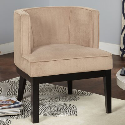 Priebe Accent Barrel Chair Upholstery: Tan