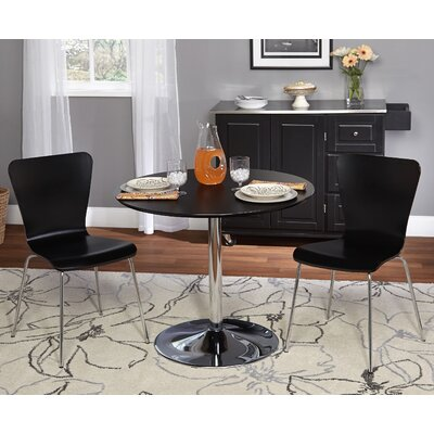 Saladino 3 Piece Dining Set Chair Color: Black