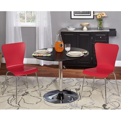 Saladino 3 Piece Dining Set Chair Color: Red