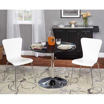 Saladino 3 Piece Dining Set Chair Color: White