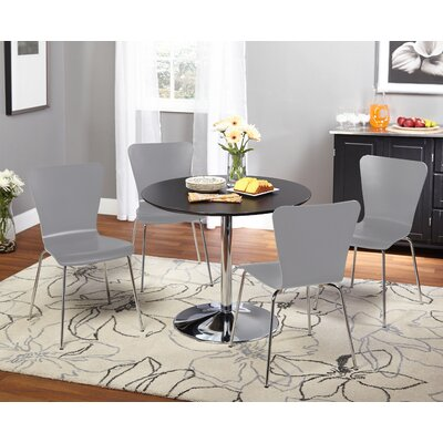 Saladino 5 Piece Dining Set Chair Color: Gray