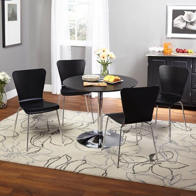 Saladino 5 Piece Dining Set Chair Color: Black