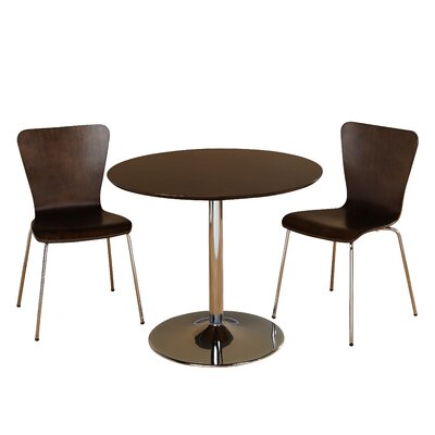 Salazar 3 Piece Dining Set Chair Color: Espresso