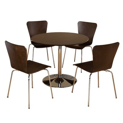 Salazar 5 Piece Dining Set Chair Color: Espresso