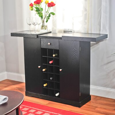 No credit financing 24 Bottle Wine Cabinet Finish: Blac...
