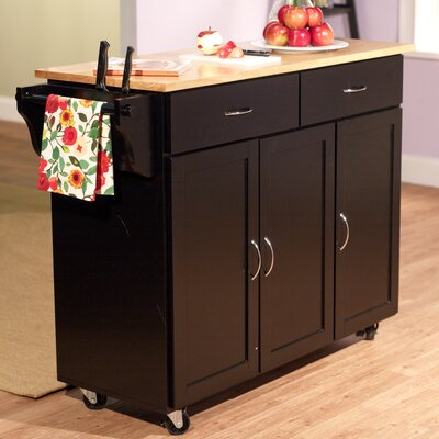 Easy financing Kitchen Cart Base Finish: Black...