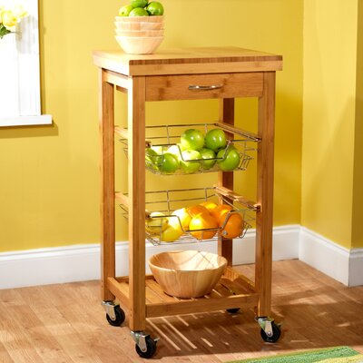 Cheap TMS Bamboo Kitchen Trolley in Natural (TXR1250)