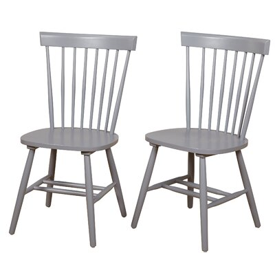 Royal Palm Beach Solid Wood Dining Chair Color: Gray