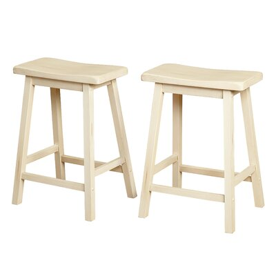 Wooden 24 Bar Stool Color: Buttermilk