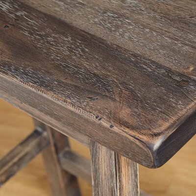 Wooden 30 Bar Stool Color: Weathered Gray