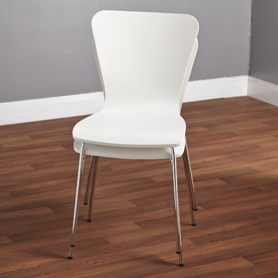 Batheaston Solid Wood Dining Chair Color: White