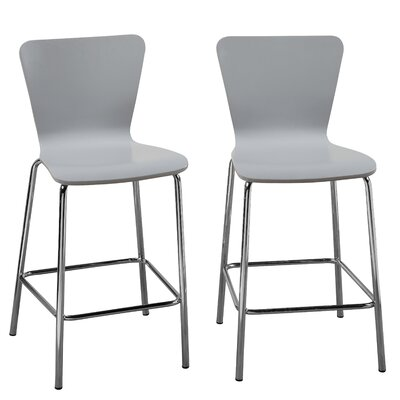 Viqueque Bentwood 24 Bar Stool Finish: Gray