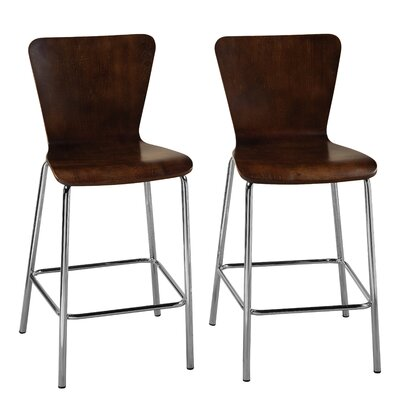 Viqueque Bentwood 24 Bar Stool Finish: Espresso