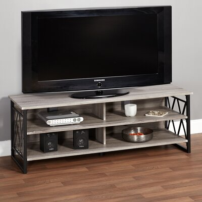 Piccolo 48- 60 TV Stand Color: Black/Gray Reclaimed Look Finish, Width of TV Stand: 48