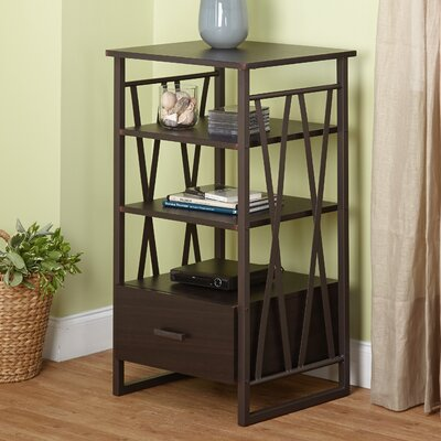 Piccolo End Table with Storage Color: Espresso