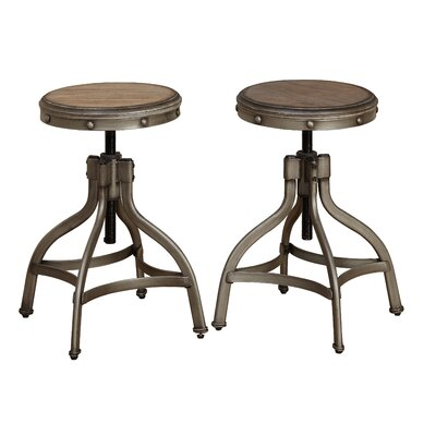 Adalgar Adjustable Height Swivel Bar Stool