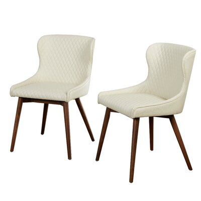 West Line Upholstered Dining Chair Upholstery Color: Cream