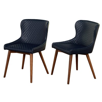 West Line Upholstered Dining Chair Upholstery Color: Navy