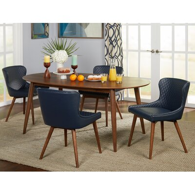 West Line 5 Piece Dining Set Chair Color: Navy