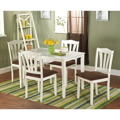 Low Price TMS Metropolitan 5 Piece Dining Set Finish: Antique White
