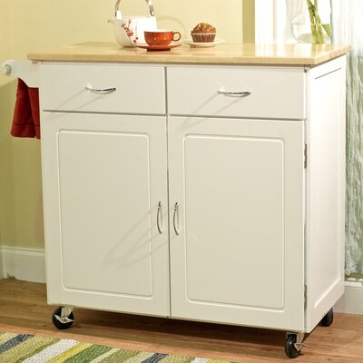 Credit for Kitchen Cart Base Finish: White...