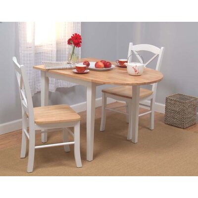 Lease to own Tiffany 3 Piece Dining Set Finish: ...