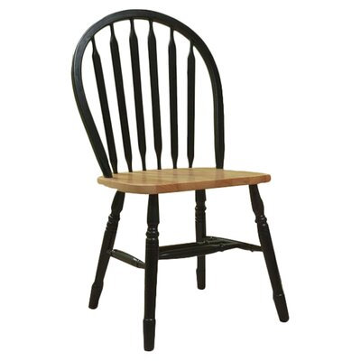 TMS Jeremy Side Chair (Set of 2) - Finish: Black / Natural