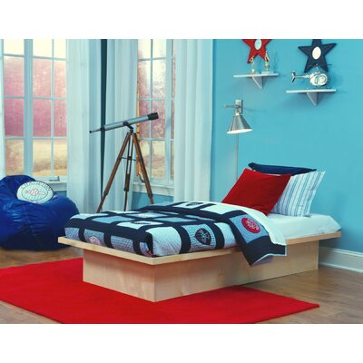 TrekBeds Pure Platform Bed Size: Queen, Upholstery: Natural Maple