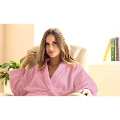 Spa Bathrobe Size: Large, Color: Pink